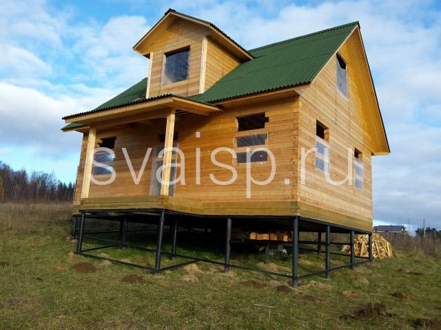 свайный фундамент для домов